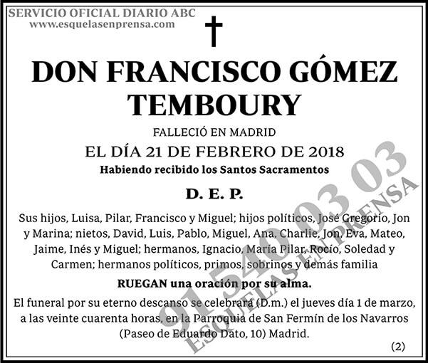 Francisco Gómez Temboury